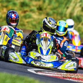 Close racing from Whilton Mill Kart Club