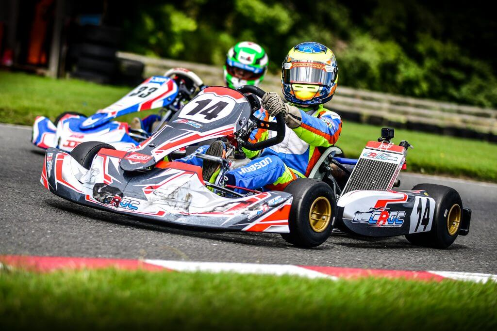 Race action from Whilton Mill Kart Club