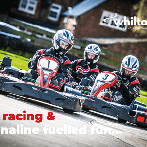 Arrive and drive karting for adults on the Mill Circuit