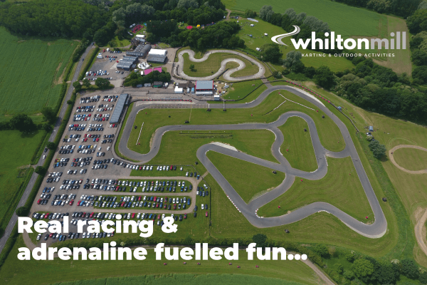 Aerial view of Whilton Mill Kart Circuit