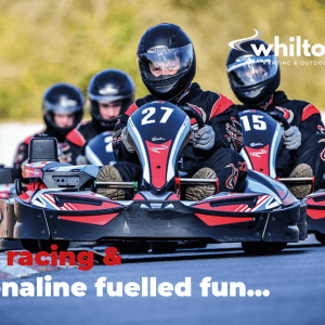 Driver leading go-karting Sprint race