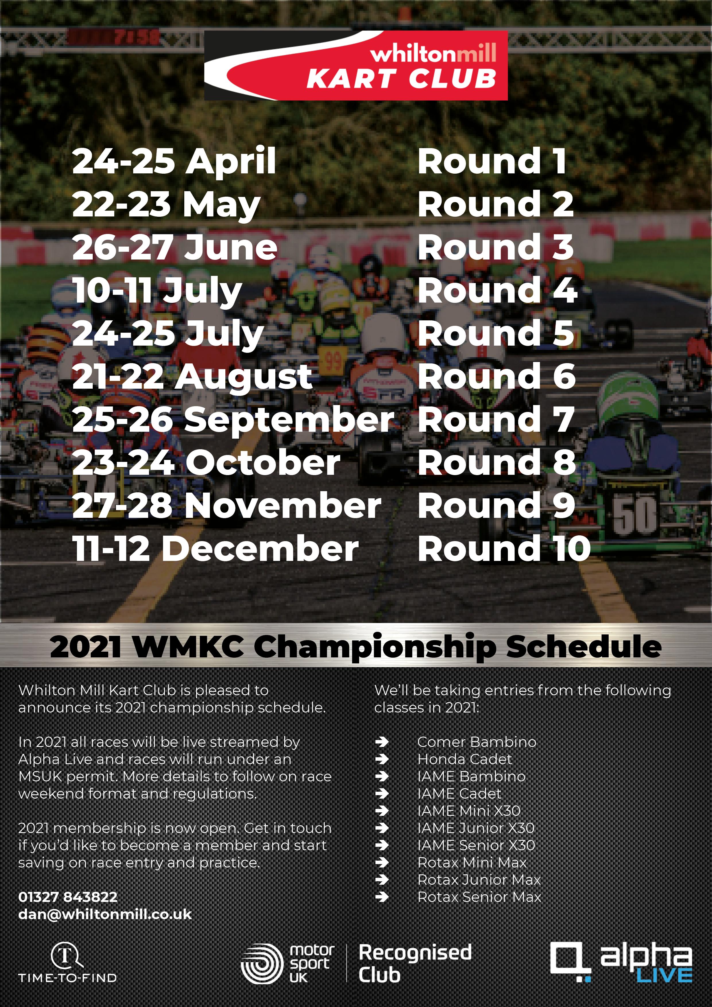 WMKC 2021 Championship Schedule